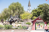Charlestown Bridge and Paul Revere Statue at Heritage Park Cerritos
