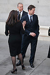 UK politicians leave the state funeral for former Spanish prime minister Adolfo Suarez at the Almudena Cathedral in Madrid, Spain. March 31, 2014. (ALTERPHOTOS/Victor Blanco)
