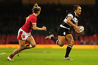 Ruahaei Demant of Barbarians in action during the International friendly match between Wales and Barbarians at the Principality Stadium in Cardiff, Wales, UK. Saturday 30 November 2019