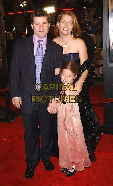 SEAN ASTIN & FAMILY.The Lord of The Rings:The Return of The King L.A. Premiere held at The Mann Village Theatre.                  03/12/2003.www.capitalpictures.com.sales@capitalpictures.com.©Capital Pictures.