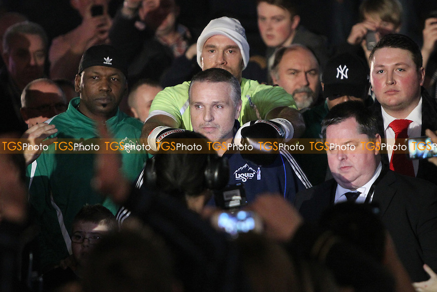 Tyson Fury vs Kevin  Johnson in a boxing contest at the Odyssey Arena, Belfast , Northern Ireland promoted by Hennessy Sports - 01/12/11 - MANDATORY CREDIT: Chris Royle/TGSPHOTO - Self billing applies where appropriate - 0845 094 6026 - contact@tgsphoto.co.uk - NO UNPAID USE..