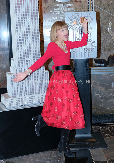 www.acepixs.com<br /> <br /> February 13 2017, New York City<br /> <br /> Winner of 'America's got Talent' Grace Vanderwaal made an appearance at the Empire State Building to perform for 14 couples for Valentine's Day on February 13 2017 in New York City<br /> <br /> By Line: Curtis Means/ACE Pictures<br /> <br /> <br /> ACE Pictures Inc<br /> Tel: 6467670430<br /> Email: info@acepixs.com<br /> www.acepixs.com