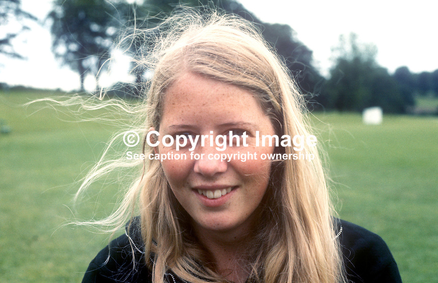 Barbara O'Neill, long jumper, high jumper, sprinter, athlete, Belfast, N Ireland, July, 1969, 196907000199<br />