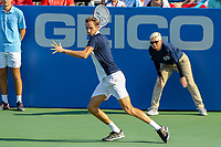 Washington, DC - August 4, 2019:  Daniil Medvedev (RUS) gets ready to hit the ball during the Citi Open ATP Singles final at William H.G. FitzGerald Tennis Center in Washington, DC  August 4, 2019.  (Photo by Elliott Brown/Media Images International)