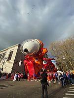 NEW YORK, NY - NOVEMBER 28: Snoopy balloon at the Macy's Thanksgiving Day Parade in New York, New York on November 28, 2019.  <br /> CAP/MPI/RMP<br /> ©RMP/MPI/Capital Pictures