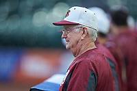 Florida State Seminoles head coach Mike Martin Sr. looks on during the game against the Notre Dame Fighting Irish in Game Four of the 2017 ACC Baseball Championship at Louisville Slugger Field on May 24, 2017 in Louisville, Kentucky. The Seminoles walked-off the Fighting Irish 5-3 in 12 innings. (Brian Westerholt/Four Seam Images)