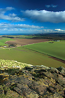 The East Lothian Coastline from North Berwick Law, East Lothian