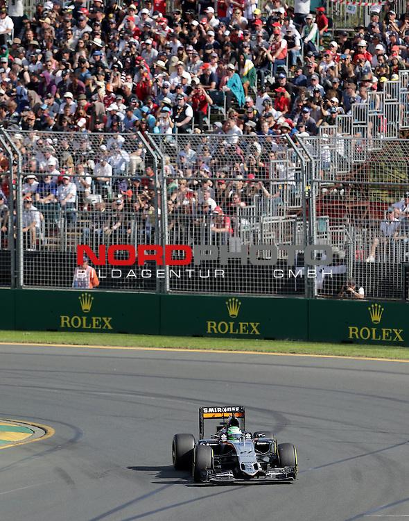 20.03.2016. Albert-Park-Circuit, Melbourne,  AUS, F1, Formula 1 Rolex Australien Grand Prix,  Race01 im Bild   <br /> Niko H&uuml;lkenberg (GER#27), Sahara Force India Formula One Team<br /> <br /> <br /> Foto &copy; nordphoto /  Bratic