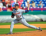 15 March 2009: Detroit Tigers' pitcher Clay Rapada on the mound during a Spring Training game against the Washington Nationals at Space Coast Stadium in Viera, Florida. The Tigers shut out the Nationals 3-0 in the Grapefruit League matchup. Mandatory Photo Credit: Ed Wolfstein Photo