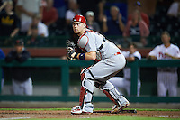Glendale Desert Dogs Carson Kelly (71), of the St. Louis Cardinals organization, during a game against the Scottsdale Scorpions on October 14, 2016 at Scottsdale Stadium in Scottsdale, Arizona.  Scottsdale defeated Glendale 8-7.  (Mike Janes/Four Seam Images)