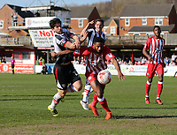 Zak Mills of Grimsby Town and Janoi Donacien of Accrington Stanley <br /> during the Sky Bet League 2 match between Accrington Stanley and Grimsby Town at the Fraser Eagle Stadium, Accrington, England on 25 March 2017. Photo by Tony  KIPAX / PRiME Media Images.