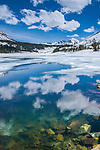 Ellery Lake in Yosemite National Park in early spring..