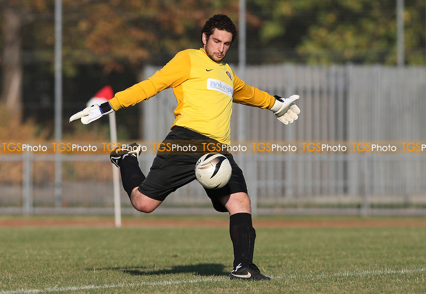 Riccardo Mazzon of Bethnal Green - Bethnal Green United vs Hoddesdon Town, FA Vase at Mile End Stadium - 22/10/11 - MANDATORY CREDIT: Rob Newell/TGSPHOTO - Self billing applies where appropriate - 0845 094 6026 - contact@tgsphoto.co.uk - NO UNPAID USE.