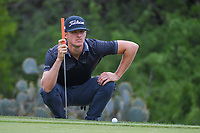 Morgan Hoffman (USA) looks over his utt on 1 during day 1 of the Valero Texas Open, at the TPC San Antonio Oaks Course, San Antonio, Texas, USA. 4/4/2019.<br /> Picture: Golffile | Ken Murray<br /> <br /> <br /> All photo usage must carry mandatory copyright credit (© Golffile | Ken Murray)