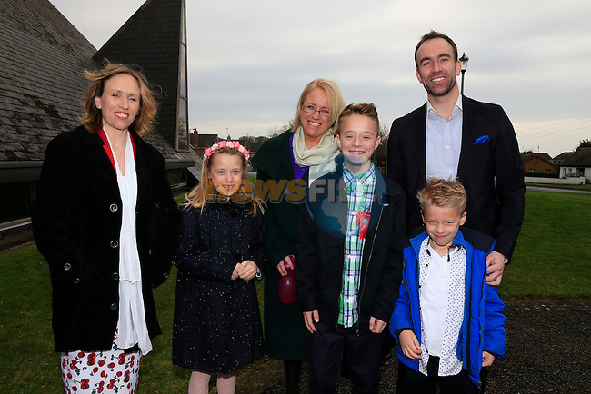 Lucas Lundgren, Sandra Aunt, linnea, Suzanne  Ian Uncle and Max<br /> at confirmation in Whitecross, Julianstown.<br /> Picture: www.newsfile.ie