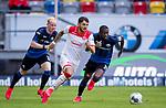 nph00351: Fussball, 1. Bundesliga, Saison 19/20, 26. Spieltag, Fortuna Düsseldorf - FC Paderborn 07, 16.05.2020:<br /> Matthias Zimmermann (F95), Jamilu Collins (SCP)<br />  <br /> <br /> Nur für journalistische Zwecke! Only for editorial use!<br /> <br /> Gemäß den Vorgaben der DFL Deutsche Fußball Liga ist es untersagt, in dem Stadion und/oder vom Spiel angefertigte Fotoaufnahmen in Form von Sequenzbildern und/oder videoähnlichen Fotostrecken zu verwerten bzw. verwerten zu lassen. DFL regulations prohibit any use of photographs as image sequences and/or quasi-video. <br /> <br /> Foto: Moritz Müller/Pool / via Meuter/nordphoto