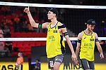06.01.2019, Den Haag, Sportcampus Zuiderpark<br /> Beachvolleyball, FIVB World Tour, 2019 DELA Beach Open, Finale<br /> <br /> Julius Thole (#1), Clemens Wickler (#2)<br /> <br />   Foto &copy; nordphoto / Kurth
