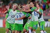VfL Wolfsburg's players celebrate goal during UEFA Womens Champions League 2017/2018, 1/16 Final, 1st match. October 4,2017. (ALTERPHOTOS/Acero) /NortePhoto.com /NortePhoto.com