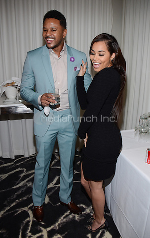 LOS ANGELES, CA - APRIL 7: Hosea Chanchez and Lauren London attend the BET Networks Upfront 2014 at the SLS Hotel on April 7, 2014 in Los Angeles, California. PGWse / MediaPunch