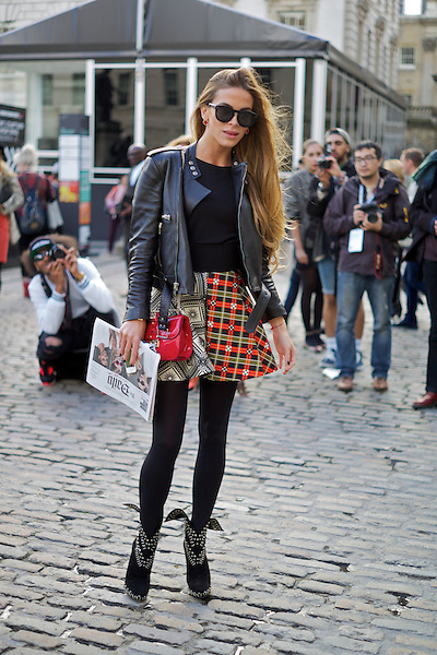 Victoria Baker-Harber from Made in Chelsea at London Fashion Week