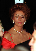 Actress Sophia Loren listens to United States President Bill Clinton's toast to President Romano Prodi at the Official White House Dinner in Washington, D.C. on May 6, 1998..Credit: Ron Sachs / CNP
