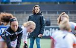 AMSTELVEEN - coach Tina Bachmann (OR) voor de hoofdklasse hockeywedstrijd dames,  Amsterdam-Oranje Rood (2-2) .   COPYRIGHT KOEN SUYK