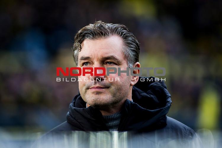 09.02.2019, Signal Iduna Park, Dortmund, GER, 1.FBL, Borussia Dortmund vs TSG 1899 Hoffenheim, DFL REGULATIONS PROHIBIT ANY USE OF PHOTOGRAPHS AS IMAGE SEQUENCES AND/OR QUASI-VIDEO<br /> <br /> im Bild | picture shows:<br /> Michael Zorc (Sportdirektor BVB), <br /> <br /> Foto © nordphoto / Rauch