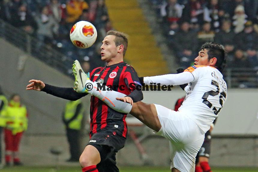 Marvin Bakalorz (Eintracht) setzt sich durch - Eintracht Frankfurt vs. APOEL Nikosia, Commerzbank Arena, Europa League Gruppenphase