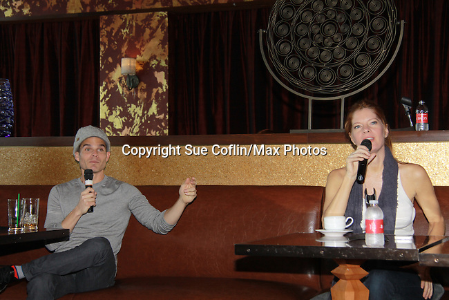 """Drama Brunch - The Young & The Restless Michelle Stafford and Greg Rikaart came for the fans with a brunch and photos during the Soap Opera Festivals Weekend - """"All About The Drama"""" on March 25, 2012 at Bally's Atlantic City, Atlantic City, New Jersey.  (Photo by Sue Coflin/Max Photos)"""