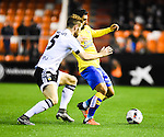 Valencia CF's  Shkodran Mustafi and UD Las Palmas' Culio during spanish King's Cup match. January 21, 2016. (ALTERPHOTOS/Javier Comos)