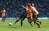 Cardiff City's Gary Madine has a shot at goal <br /> <br /> Photographer Ian Cook/CameraSport<br /> <br /> The EFL Sky Bet Championship - Cardiff City v Reading - Sunday 6th May 2018 - Cardiff City Stadium - Cardiff<br /> <br /> World Copyright &copy; 2018 CameraSport. All rights reserved. 43 Linden Ave. Countesthorpe. Leicester. England. LE8 5PG - Tel: +44 (0) 116 277 4147 - admin@camerasport.com - www.camerasport.com