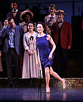 "Bebe Neuwirth and cast during the final performance curtain call for the New York City Center Encores! at 25 production of  ""Hey, Look Me Over!"" on February 11, 2018 at the City Center Theatre in New York City."