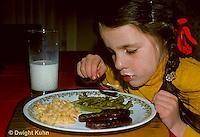 SN17-005z  Taste - child eating dinner.