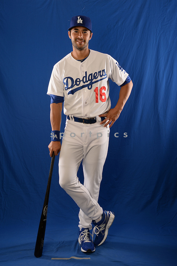 Los Angeles Dodgers Andre Ethier (16) at media photo day during spring training on February 20, 2014 in Glendale, AZ.