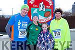 Ciaran Stack Castleisland, Michelle Knee, Michaela Curtin bothe Gneeveguilla and Maura Daly Farranfore at the run Santa Run 5k in Castleisland on Sunday