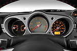 Instrument panel close up detail view of a 2008 Nissan 350z Coupe Nismo