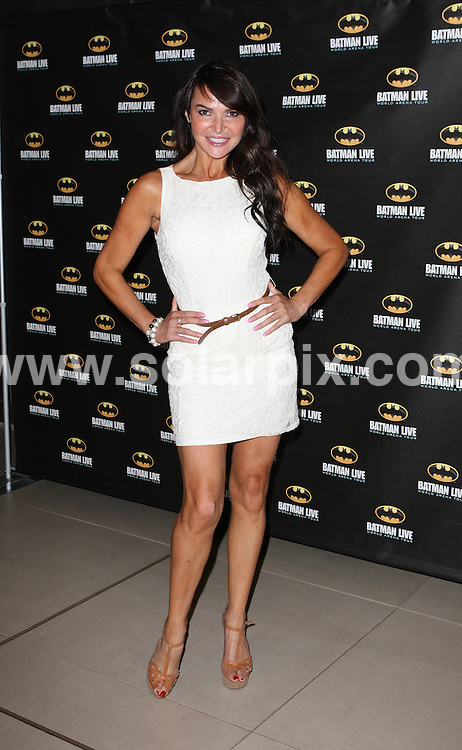 **ALL ROUND PICTURES FROM SOLARPIX.COM**                                             **WORLDWIDE SYNDICATION RIGHTS**                                                                                  Caption: Arrivals at the Batman Live event, held at the O2 Arena, London, UK. 24 August 2011                                                                              This pic: Lizzie Cundy                                                                               JOB REF: 13879 WMB       DATE: 24_08_2011                                                           **MUST CREDIT SOLARPIX.COM OR DOUBLE FEE WILL BE CHARGED**                                                                      **MUST AGREE FEE BEFORE ONLINE USAGE**                               **CALL US ON: +34 952 811 768 or LOW RATE FROM UK 0844 617 7637**