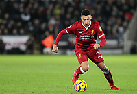Alex Oxlade-Chamberlain of Liverpool during the Premier League match between Swansea City and Liverpool at the Liberty Stadium, Swansea, Wales on 22 January 2018. Photo by Mark Hawkins / PRiME Media Images.