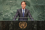 DSG meeting<br /> <br /> AM Plenary General DebateHis<br /> <br />  His Excellency Mark RUTTE Prime Minister and Minister for General Affairs of the Kingdom of the Netherlands
