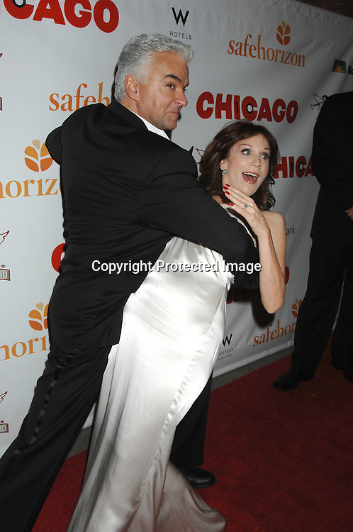 """John O'Hurley and Marilu Henner..arriving at The Party for """"Chicago"""" The Musical's 10 year Anniversary on November 14, 2006 at New World Stages. ..It was a benefit for Safe Horizon. ..Robin Platzer, Twin Images"""