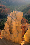 Hoodoo in morning light from Inspiration Point Bryce Canyon National Park, UTAH