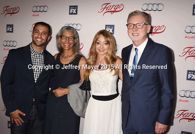 HOLLYWOOD, CA - OCTOBER 07: Executive producer Warren Littlefield (R) and family attend the premiere of FX's 'Fargo' Season 2 held at ArcLight Cinemas on October 7, 2015 in Hollywood, California.