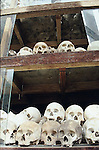 SKULLS OF GENICIDE VICTIMS FROM KMER ROUGE REIGN OF TERROR