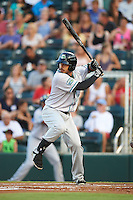 Daytona Tortugas outfielder Sebastian Elizalde (24) at bat during a game against the Fort Myers Miracle on June 17, 2015 at Hammond Stadium in Fort Myers, Florida.  Fort Myers defeated Daytona 9-5.  (Mike Janes/Four Seam Images)