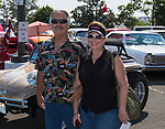 Gary and Lisa Moore during the Hot August Nights Pre-Kickoff Party at the Bonanza Casino in Reno, Nevada on Sunday, August 6, 2017.