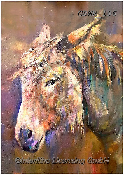 Simon, REALISTIC ANIMALS, REALISTISCHE TIERE, ANIMALES REALISTICOS, innovative, paintings+++++SueGardner_Donkey,GBWR196,#a#, EVERYDAY