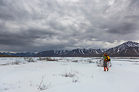 Aufeis over the Ribdon river, Brooks Range, Arctic, Alaska.
