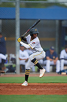 GCL Pirates Norkis Marcos (3) at bat during a Gulf Coast League game against the GCL Rays on August 7, 2019 at Charlotte Sports Park in Port Charlotte, Florida.  GCL Rays defeated the GCL Pirates 4-1 in the first game of a doubleheader.  (Mike Janes/Four Seam Images)