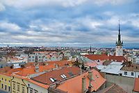 View from Church beltower of Olomouc, Czech Republic