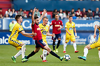 Rober Iba&ntilde;ez (medium; CA Osasuna) during the Spanish <br /> la League soccer match between CA Osasuna and CD Lugo at Sadar stadium, in Pamplona, Spain, on Saturday, <br /> April 28, 2018.